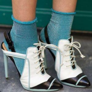 L.A.M.B. Leather Sneaker Heels Size 8